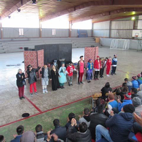 """Obra de teatro """"El Mercader"""", en Centro Penitenciario Colina 1. Créditos: Gendarmería de Chile."""