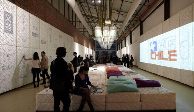 ceremonia de inauguracion del pabellon chileno en bienal de shenzhen