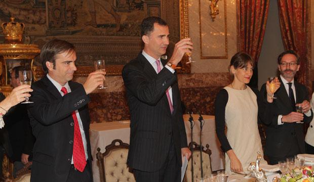 Ministro Cruz-Coke participa en almuerzo de los Príncipes de Asturias en honor a Nicanor Parra