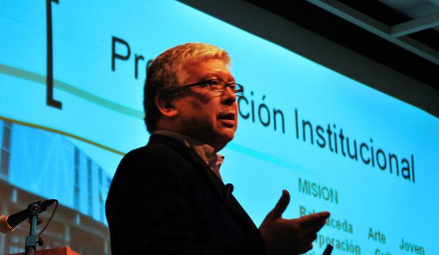 Pablo Gaete, Director de la Corporación Cultural Balmaceda Arte Joven de la Región del Biobío.