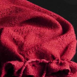 Pieza ISI, tejido en alpaca con terminaciones aymara