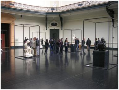 Taller Patrimonio Liceo Dr. Luis Vargas Salcedo. Artista tallerista Antonio Tobón. Visita al Museo de Educación Gabriela Mistral y Bellas Artes. Fecha: Martes 12 de junio.