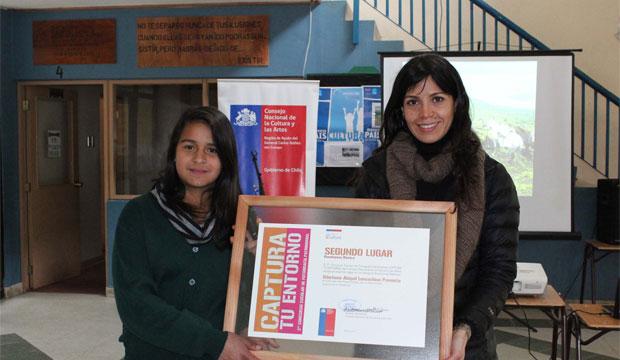 El segundo lugar fue para la alumna de la Escuela de Lago Verde