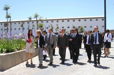 El cuerpo diplomático recorre el Parque Cultural de Valparaíso