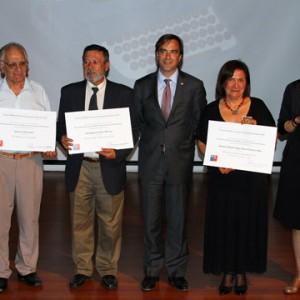 Paz Balmaceda, Jaime Aníbal Cerda, Julio Gálvez, Ministro Luciano Cruz-Coke, Rosa Calderón y Rosa Gutiérrez