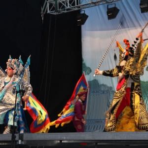 Opera China de Beijing en Medialuna Monumental de Rancagua