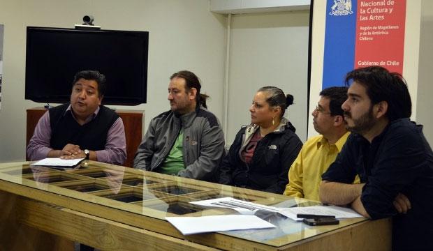 Luis Quilodrán, encargado de Fondos CRCA; Leopoldo Pizarro; Lenka Guisande; Leonardo Navarro y José Cortés, del CRCA