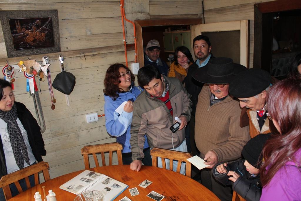 Una de las casas visitadas fue la de la familia Pradenas