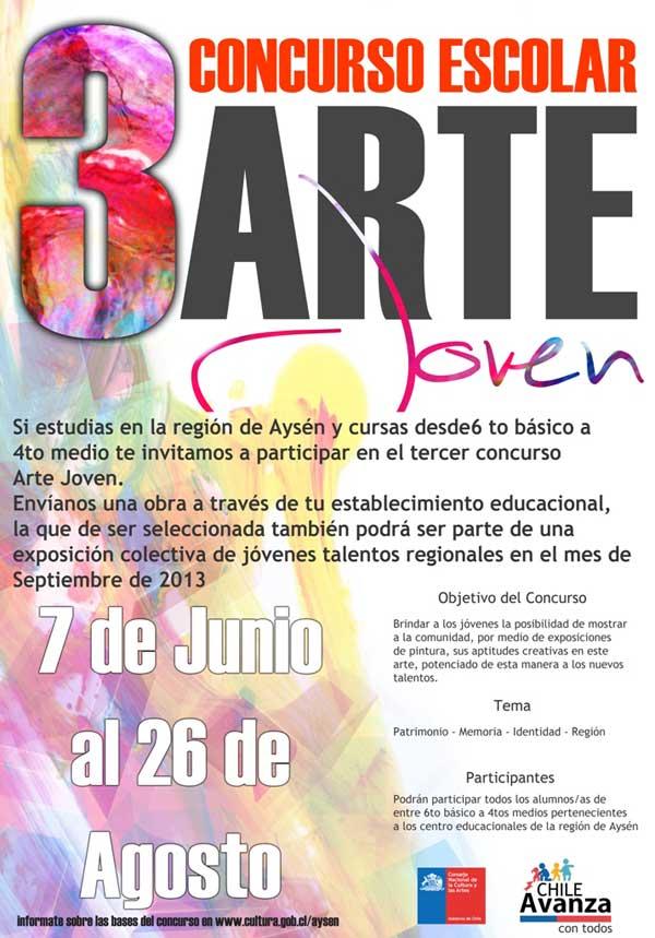 afiche concurso arte joven