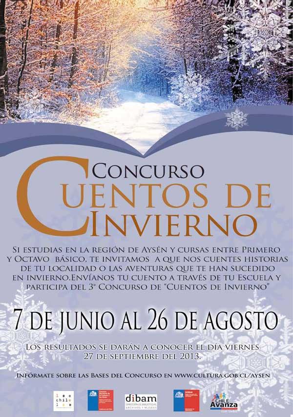 afiche concurso cuentos de invierno