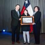 Ministro de Cultura y Embajadora de Guatemala en la conmemoración de los 125 años de la publicación del libro Azul de Rubén Dario