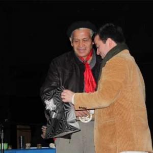 Intendente Regional (s) Nestor Mera entregó homenaje a Rómulo Ranquehue