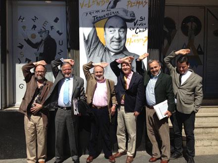 Directorio del CNCA invita a visitar instalación gráfica Neruda vive.