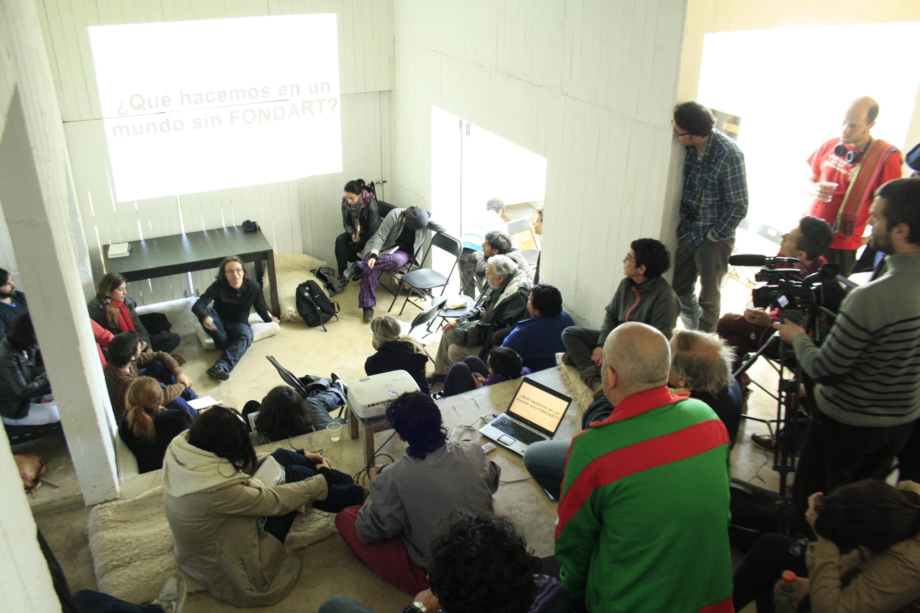 Encuentro Colectivo en Casa Poli (Tomé). Fotografía: Alejandro Valencia
