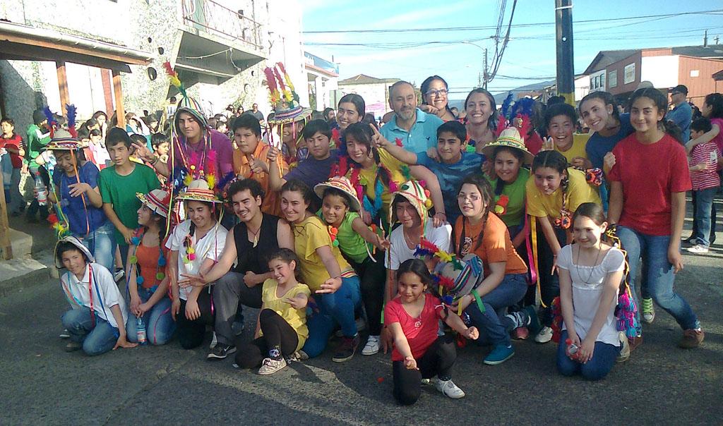 Durante 10 días elencos artísticos trabajaron con actores culturales de Lanco, Mariquina y Río Bueno, las tres comunas en que se implementa Servicio País Cultura.