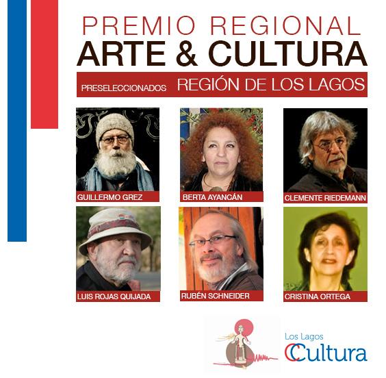 Finalistas Premio Regional Arte & Cultura Los Lagos 2013