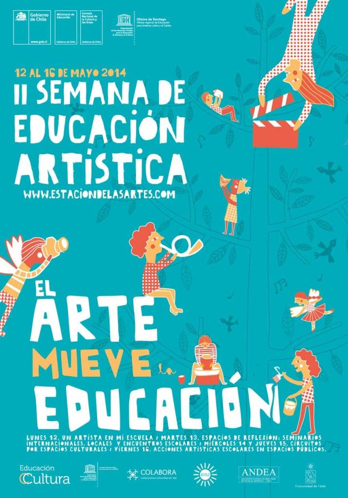 Afiche Semana de la Educación Artística