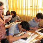 Directora María Verónica Atton comparte con alumnos en Escuela El Naranjal de Rengo