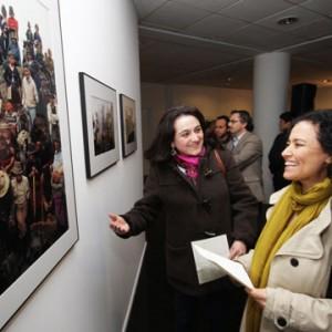 """Subdirectora de Cultura, Lilia Concha asistió a la inauguración de la exposición """"Las Calles de las Penas"""", con fotografías de Marcelo Montecino en el Museo de la Memoria"""