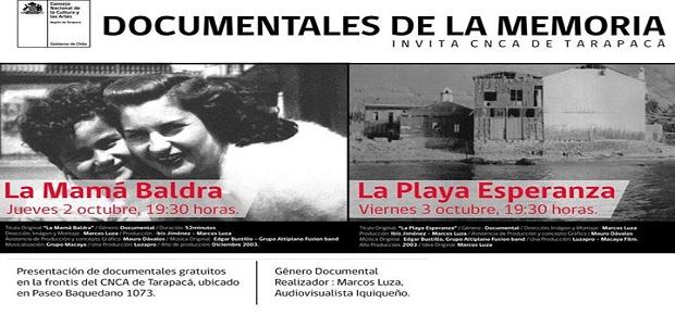 Invitación Documentales de la Memoria