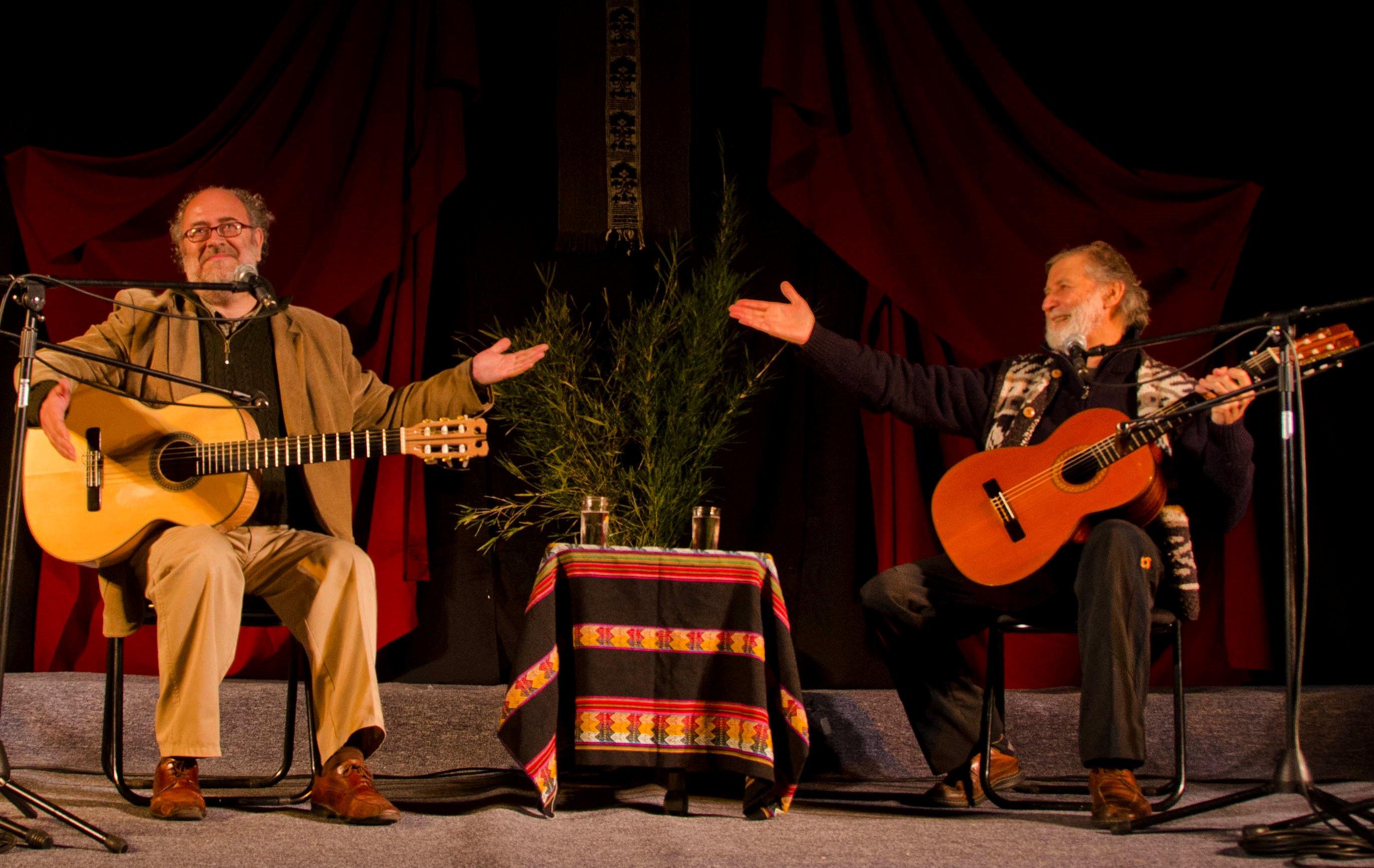 Pedro Yáñez y Eduardo Peralta en Villarrica 2014 / Fotografía: Felipe Atenas