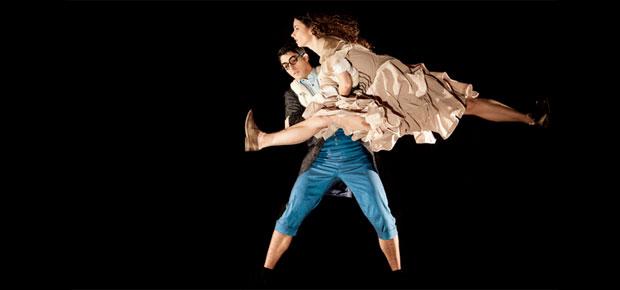 Valentín Keller y Marine García en Alicia, Ballet Nacional Chileno, foto Josefina Pérez