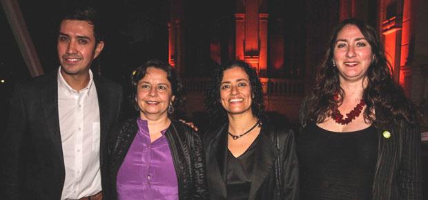 Héctor Morales, Ministra Claudia Barattini, Subdirectora CNCA Lilia Concha y Morgana Rodríguez, directora de cultura de la Municipalidad de Santiago