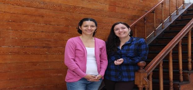 Milisa Ostojic junto a Daniela Berrios