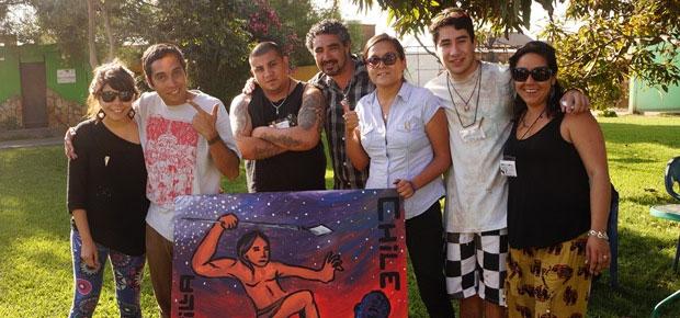Delegación regional participó de importante encuentro de artistas barriales en Región de Arica y Parinacota