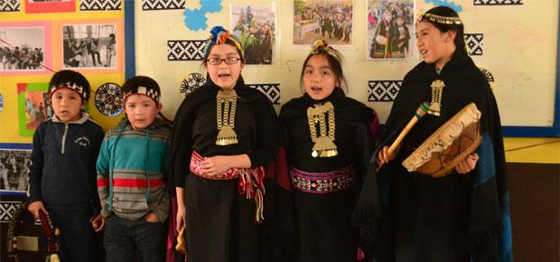 Estudiantes de Escuela Villa Carolina de Temuco conocen las expresiones culturales del pueblo mapuche
