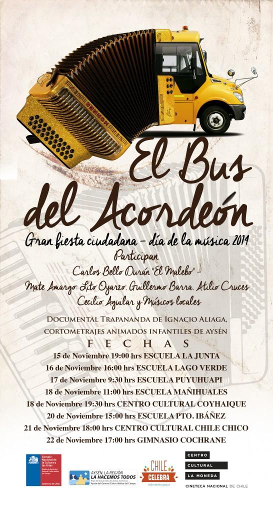 Fiestas Ciudadanas Bus del acordeon comienza este sábado
