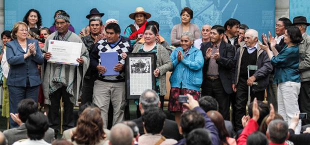 Presidenta Bachelet y Ministra Barattini reconocieron a seis nuevos Tesoros Humanos Vivos de Chile