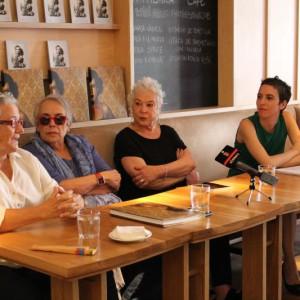 Rosa Ros, responsable del legado de Bartolomé Ros; Isabel Steva Hernández, Colita; Paz Errázuriz, y María García Yelo, directora de PHotoEspaña.