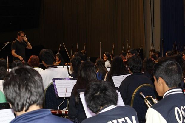 Más de 230 estudiantes fueron parte del ensayo que estuvo a cargo del Director Felipe Hidalgo
