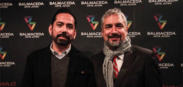 Ministro de Cultura Ernesto Ottone y Felipe Mella, director de Balmaceda Arte Joven