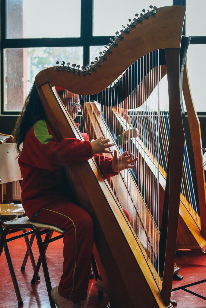 2 - Alumna Arpa Colegio Artístico Santa María