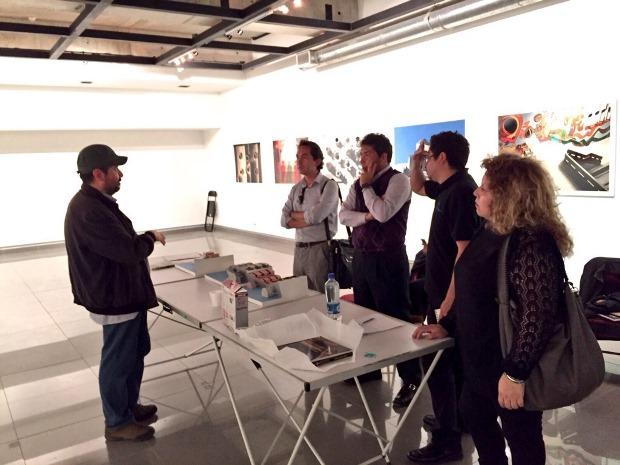 Docentes de artes visuales con artista Leonardo Portus