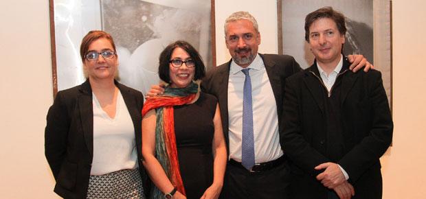 """Florencia Lowenthal, directora GGM; Dermis Pérez, curadora """"Nosotras""""; Ministro Ernesto Ottone y Andrés Duprat, director del Museo Nacional de Bellas Artes de Buenos Aires."""