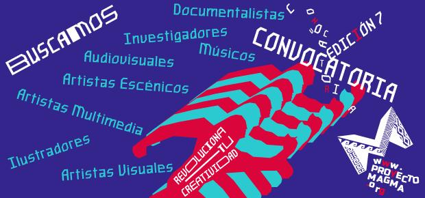 Afiche de convocatoria para ser parte de proyecto Magma