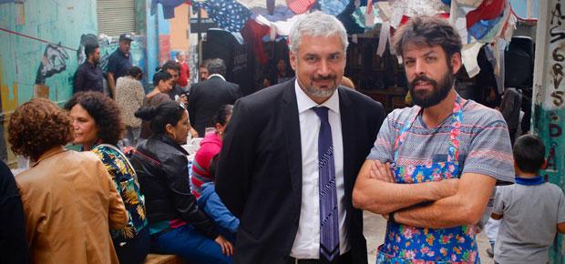 Ministro Ottone y Nicolas Eyzaguirre_V Festival teatro Container