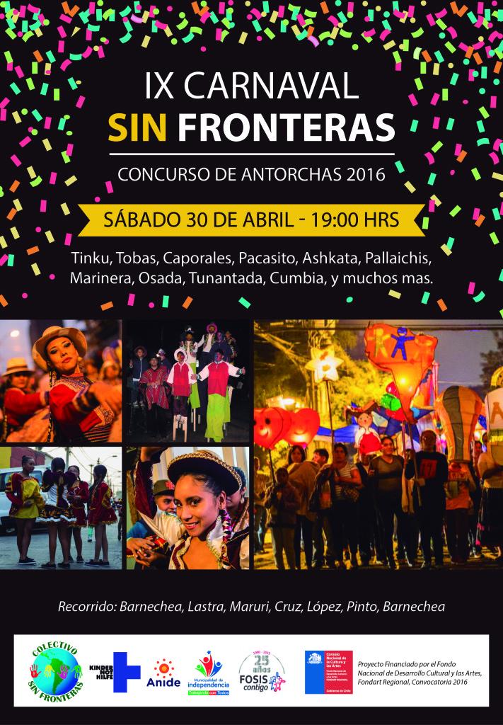 Afiche final carnaval sin fronteras 2016