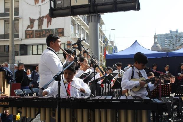 La Orquesta de Instrumentos Andinos de Calama fue parte de intervención.