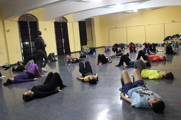 Participantes de Escuela en seminario con Rodrigo Chaverini