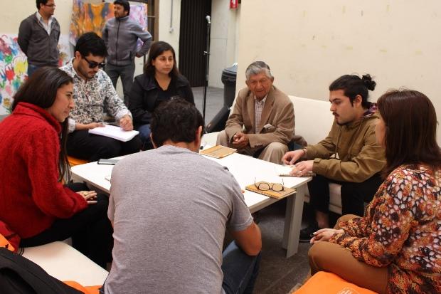 Representantes espacios culturales en mesa de trabajo