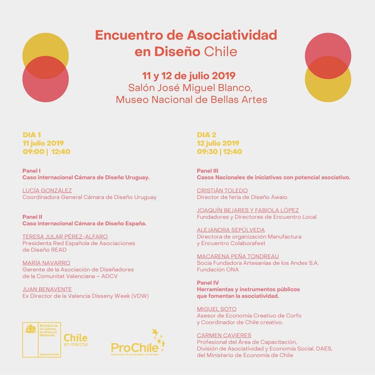 Programa Encuentro de Asociatividad en Diseño Chile