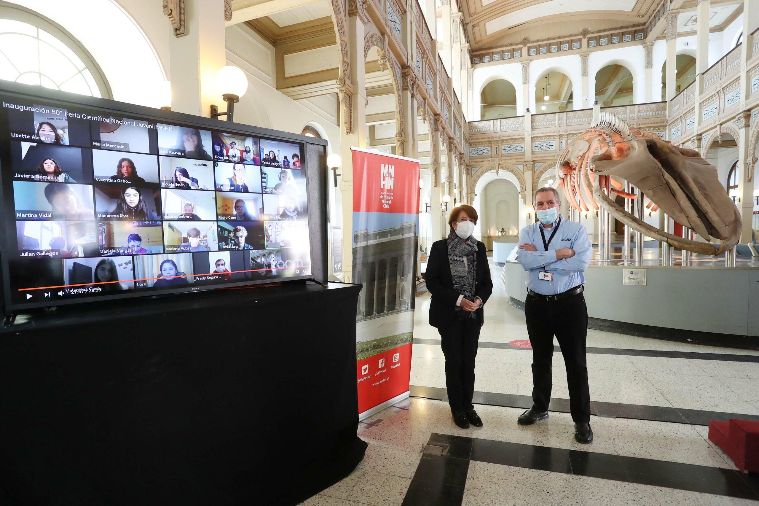Ministra de las Culturas encabeza inauguración de la versión número 50 de la Feria Científica Nacional Juvenil del Museo Nacional de Historia Natural