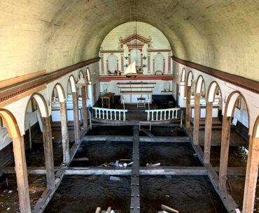 Restauración actual Iglesia San Juan (suelo y fundaciones)
