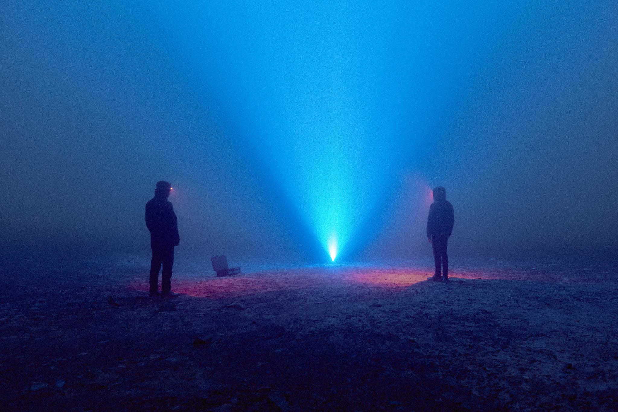 Mauricio Lacrampette y Sebastián Arriagada como parte de la participación de PRISMA Arte/Ciencia/Tecnología en Ars Electronica 2020