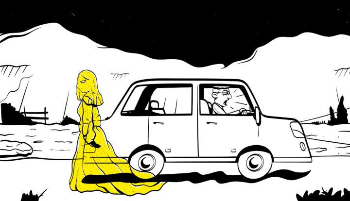 """ilustración libro """"Qué Miedo"""""""