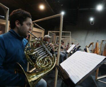 Foto: Ensayo de la Fundación de Orquestas Juveniles e Infantiles (Foji) y Tryo Teatro Banda para festival Cultura por Fibra